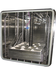 Q150IS 150 sq ft shelf area ft. collapsed shelves and coils located behind shelf stack