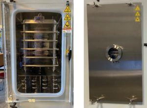 Examples of Millrock Technology Acrylic and Stainless Steel Doors on Laboratory Scale