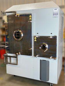 Stainless steel center hinged pivot door (for solvent handling)